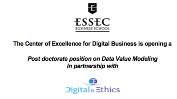 Post-doc in data valuation modelling